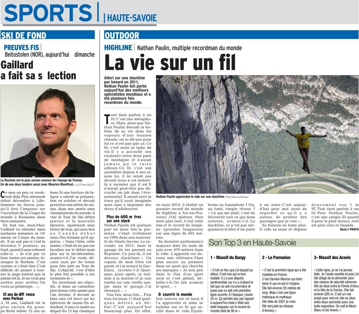 fbcbb89631265 Sport Dauphiné Libéré – La vie sur un fil – Nathan Paulin